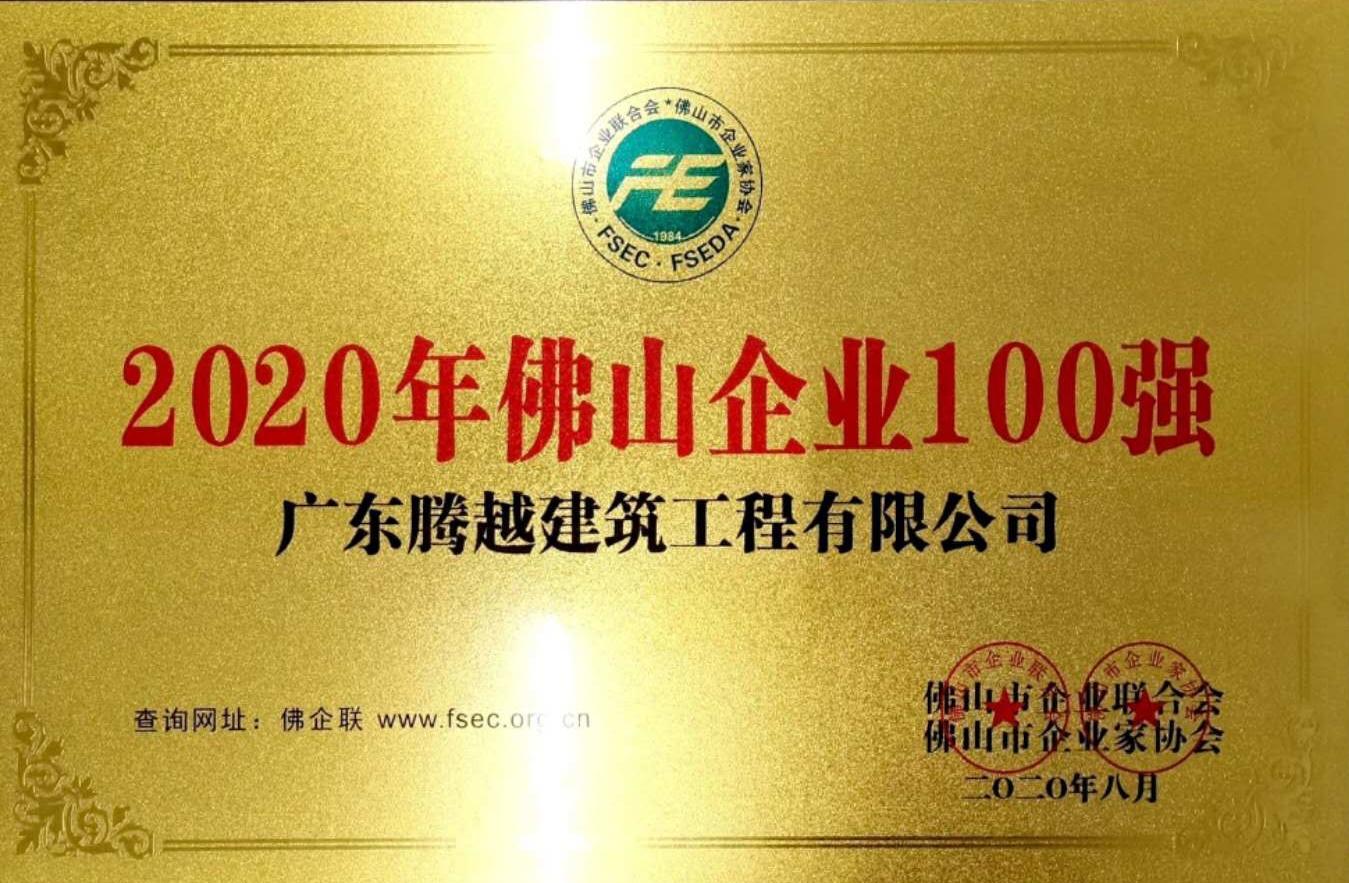 2020佛山企业100强